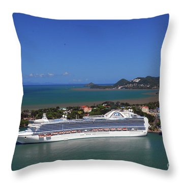 Throw Pillow featuring the photograph Cruise Port by Gary Wonning
