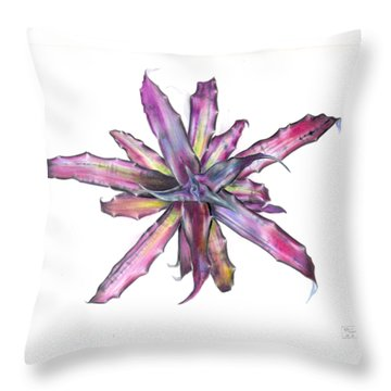 Cryptanthus Tropical Heat Wave Throw Pillow