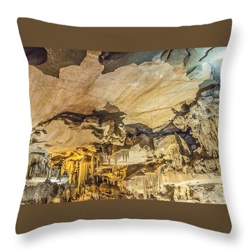 Crystal Cave Sequoia National Park Throw Pillow