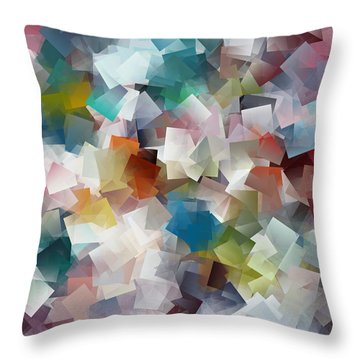 Crystal Cube Throw Pillow