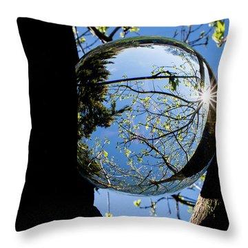 Crystal Reflection Throw Pillow by Deborah Klubertanz