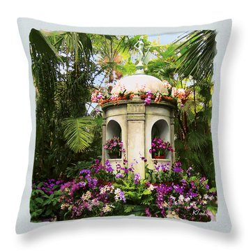 Cuban Orchid Show Throw Pillow by David Klaboe
