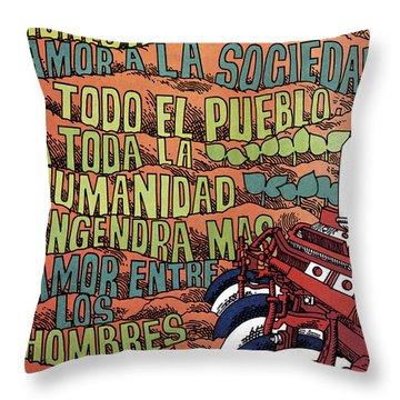 Cuban Poster, 1960s Throw Pillow by Granger