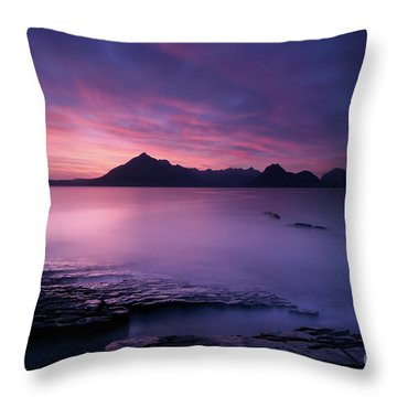 Cuillins At Sunset Throw Pillow