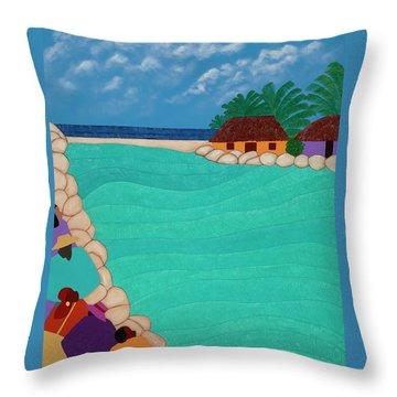 Curacao Lagoon Throw Pillow