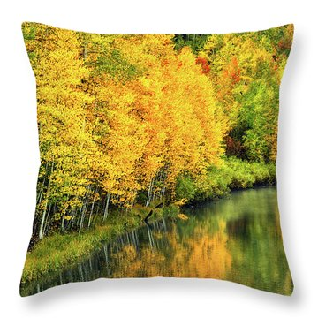 Cushman Lake  Throw Pillow