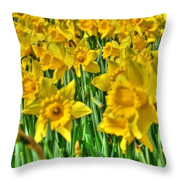 Daffodils Throw Pillow by Svetlana Sewell