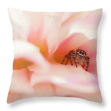 Dahlia Cafe Throw Pillow