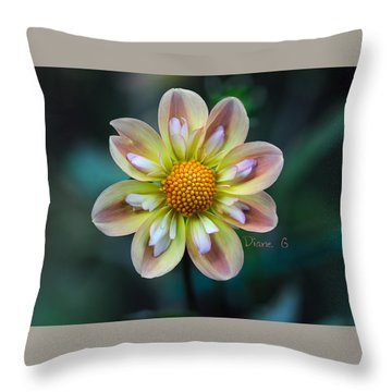 Dahlia Throw Pillow by Diane Giurco