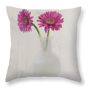 Throw Pillow featuring the photograph Gerbera Daisy Love by Kim Hojnacki