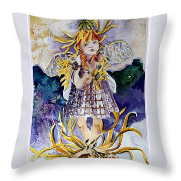 Daisy Throw Pillow by Mindy Newman