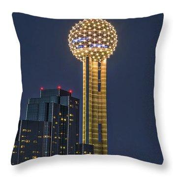 Dallas Reunion Tower Twilight Throw Pillow