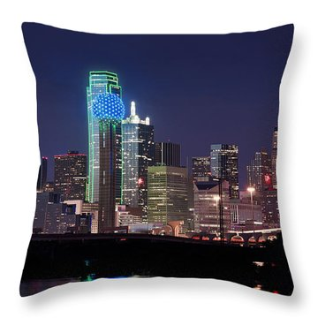 Dallas Skyline Cowboys Throw Pillow