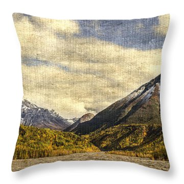 Dan Creek Alaska Throw Pillow