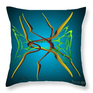 Dance Throw Pillow by Leo Symon