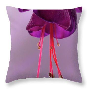Dance Of The Fuschia Throw Pillow