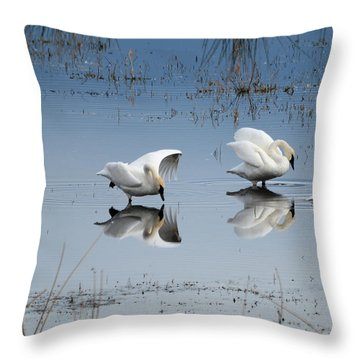 Dance Of The Trumpeter #1a Throw Pillow