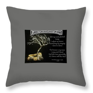 Dance With The Wind Throw Pillow