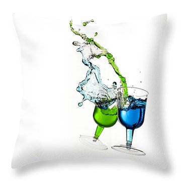 Dancing Drinks Throw Pillow