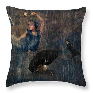 Dancing In The Rain Throw Pillow