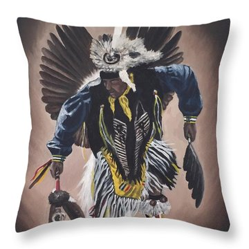 Dancing In The Spirit  Throw Pillow