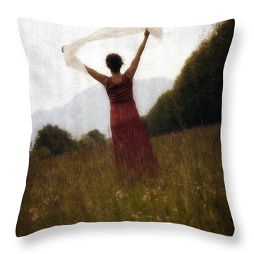 Dancing Throw Pillow by Joana Kruse