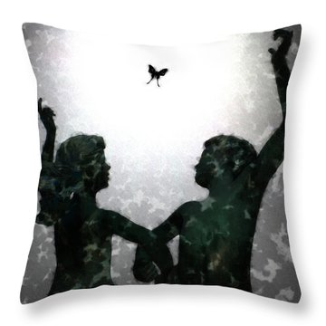 Dancing Silhouettes Throw Pillow