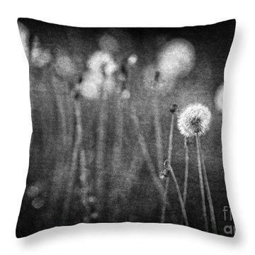 Dandelion Field Throw Pillow