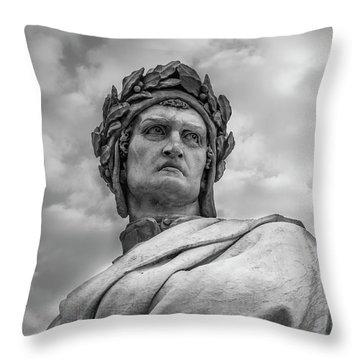 Dante Alighieri Throw Pillow by Sonny Marcyan