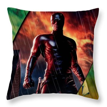 Daredevil Collection Throw Pillow by Marvin Blaine