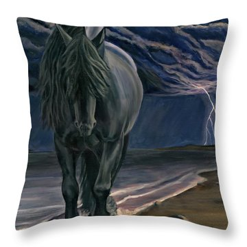 Dark Knight Of The Soul Throw Pillow by Sheri Gordon