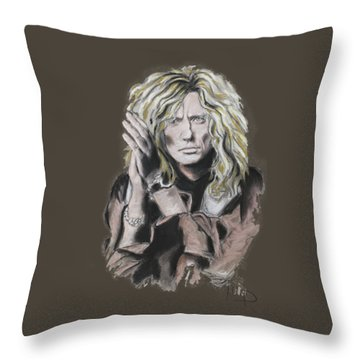 David Coverdale Throw Pillow by Melanie D