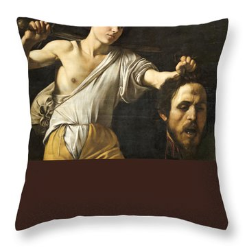 David With The Head Of Goliath Throw Pillow