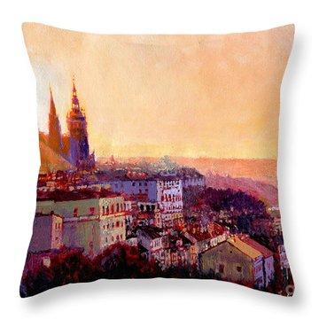 Sundown Over Prague Throw Pillow