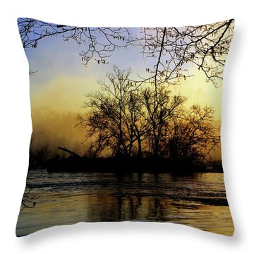 Throw Pillow featuring the photograph Morning Dawn by EDi by Darlene