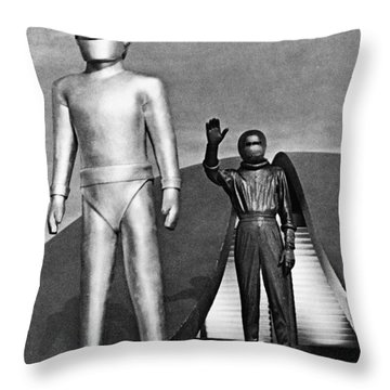 Day The Earth Stood Still Throw Pillow by Granger