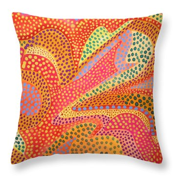 Dazzling Dots Throw Pillow