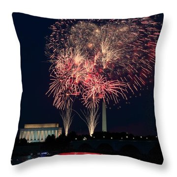 Dc 4th Of July Throw Pillow
