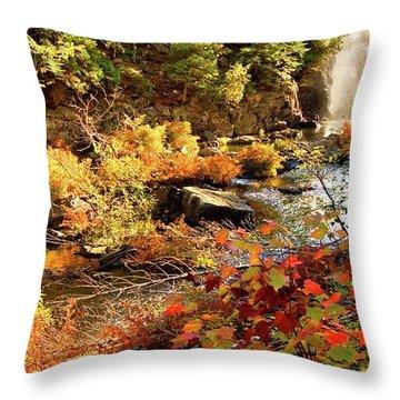 Dead River Falls  Marquette Michigan Throw Pillow