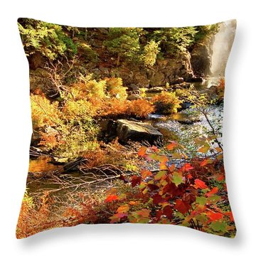 Dead River Falls  Marquette Michigan Throw Pillow
