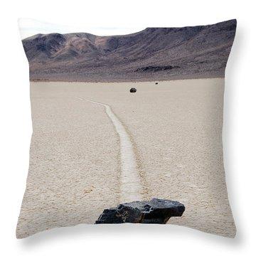 Death Valley Racetrack Throw Pillow