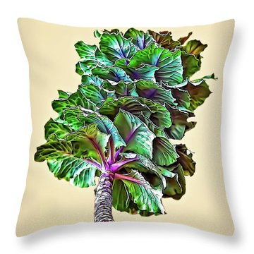 Throw Pillow featuring the photograph Decorative Cabbage by Walt Foegelle