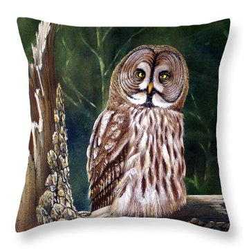 Deep In The Woods Throw Pillow by Frank Wilson