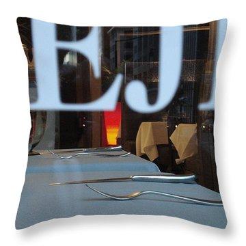 Deje Throw Pillow by Contemporary Luxury Fine Art