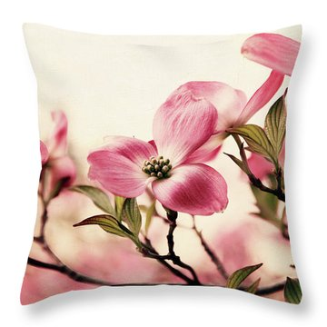 Throw Pillow featuring the photograph Delicate Dogwood by Jessica Jenney