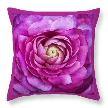 Delicate Petals Throw Pillow