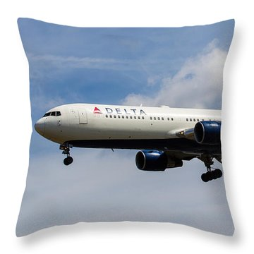 Delta Airlines Boeing 767 Throw Pillow
