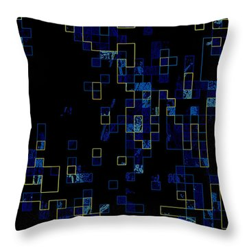 Throw Pillow featuring the mixed media Depth by Kristine Nora