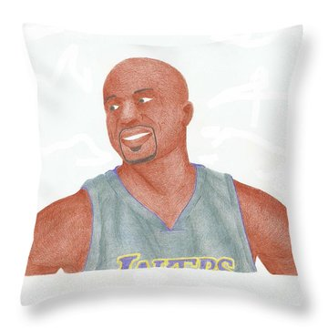Derek Fisher Throw Pillow by Toni Jaso