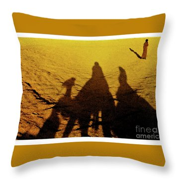 Desert Trek Throw Pillow